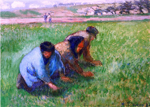 Camille Pissarro Weeders - Hand Painted Oil Painting