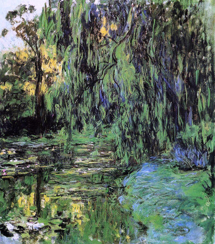 Claude Oscar Monet Weeping Willow and Water-Lily Pond - Hand Painted Oil Painting