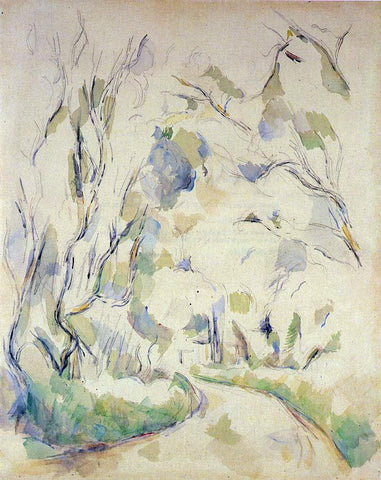 Paul Cezanne Well by the Winding Road in the Park of Chateau Noir - Hand Painted Oil Painting
