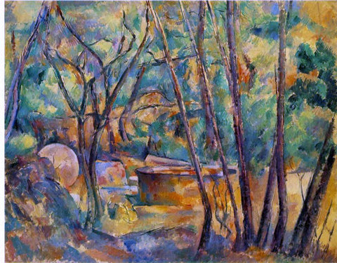 Paul Cezanne Well, Millstone and Cistern under Trees (also known as Meule et citerne sous bois) - Hand Painted Oil Painting