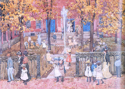 Maurice Prendergast West Church, Boston - Hand Painted Oil Painting
