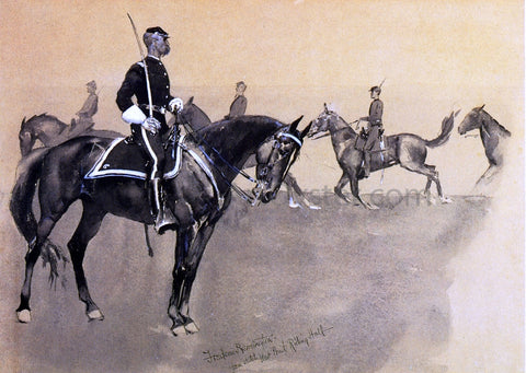 Frederic Remington West Pont Riding Hall - Hand Painted Oil Painting