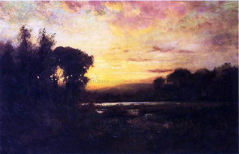 William Keith Wetlands at Sunset - Hand Painted Oil Painting