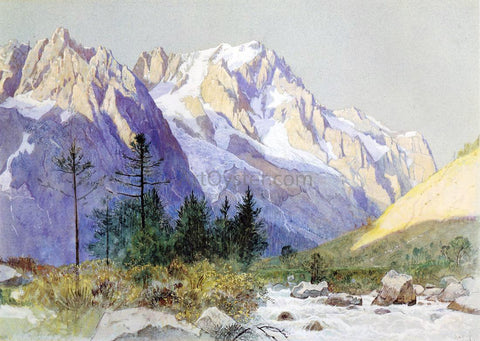 William Stanley Haseltine Wetterhorn from Grindelwald, Switzerland - Hand Painted Oil Painting