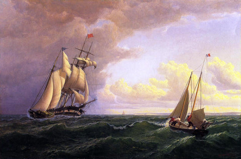William Bradford Whaler off the Vineyard - Outward Bound - Hand Painted Oil Painting
