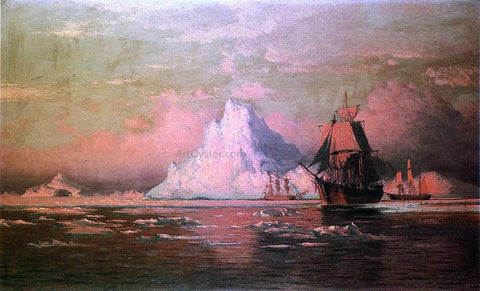William Bradford Whalers After the Nip in Melville Bay - Hand Painted Oil Painting