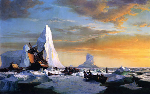 William Bradford Whalers Trapped by Arctic Ice - Hand Painted Oil Painting