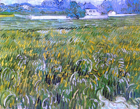 Vincent Van Gogh Wheat Field at Auvers with White House - Hand Painted Oil Painting