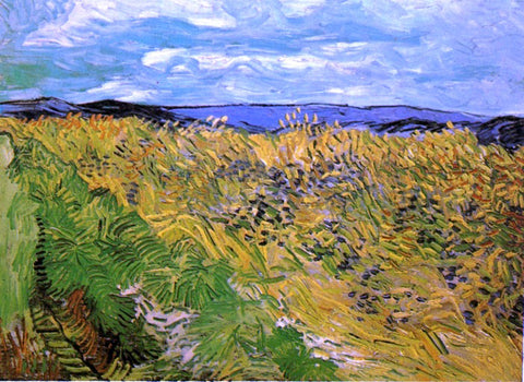 Vincent Van Gogh Wheat Field with Cornflowers - Hand Painted Oil Painting