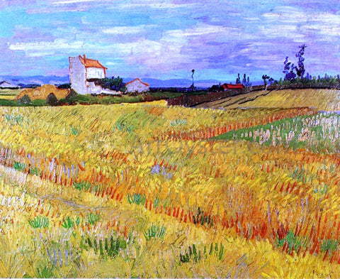Vincent Van Gogh Wheat Field with Sheaves - Hand Painted Oil Painting