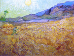Vincent Van Gogh Wheat Fields with Reaper at Sunrise - Hand Painted Oil Painting