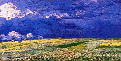 Vincent Van Gogh Wheatfields Under a Clouded Sky - Hand Painted Oil Painting