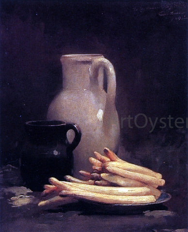 Emil Carlsen White Asparagus - Hand Painted Oil Painting