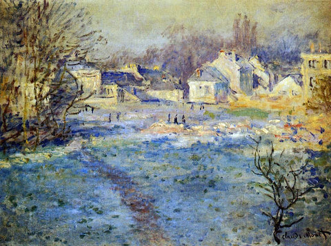 Claude Oscar Monet White Frost - Hand Painted Oil Painting