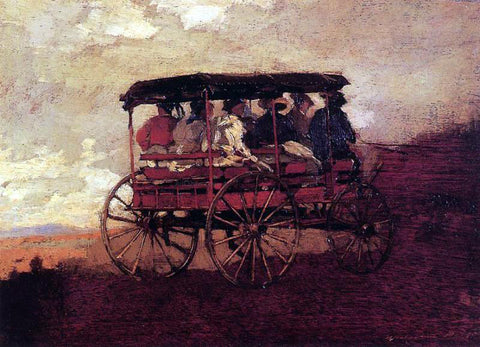 Winslow Homer White Mountain Wagon - Hand Painted Oil Painting