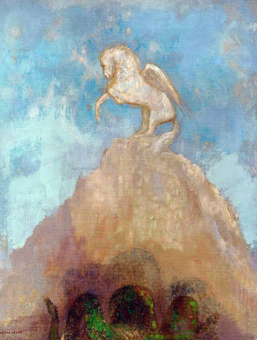 Odilon Redon White Pegasus - Hand Painted Oil Painting