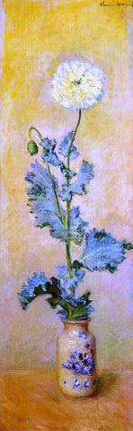 Claude Oscar Monet White Poppy - Hand Painted Oil Painting