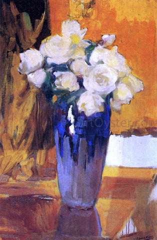 Joaquin Sorolla Y Bastida White Roses from the House Garden - Hand Painted Oil Painting