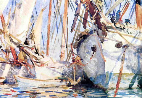 John Singer Sargent A White Ship - Hand Painted Oil Painting