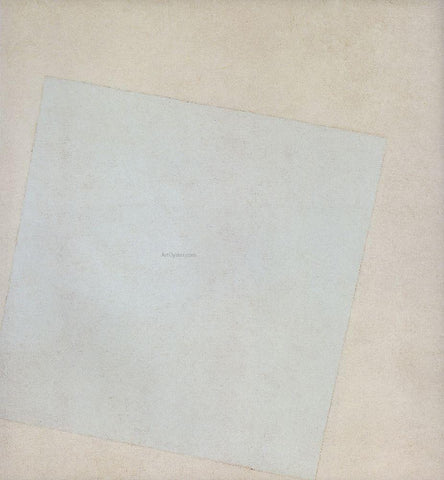 Kazimir Malevich White Square - Hand Painted Oil Painting