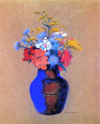 Odilon Redon Wild Flowers in a Vase - Hand Painted Oil Painting
