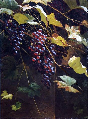 Andrew H. Way Wild Grapes - Hand Painted Oil Painting