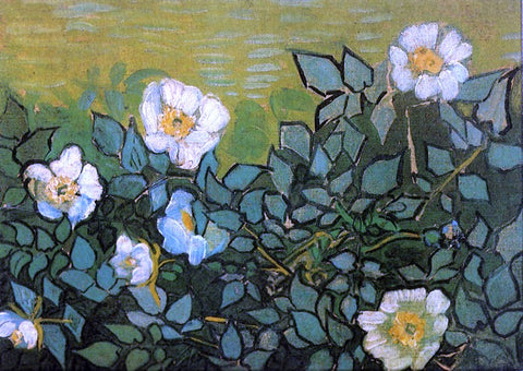 Vincent Van Gogh Wild Roses - Hand Painted Oil Painting