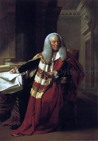 John Singleton Copley William Murray, 1st Earl of Mansfield - Hand Painted Oil Painting