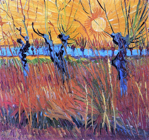 Vincent Van Gogh Willows at Sunset - Hand Painted Oil Painting