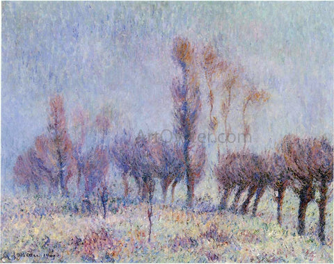 Gustave Loiseau Willows in Fog - Hand Painted Oil Painting