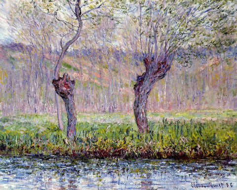 Claude Oscar Monet Willows in Springtime - Hand Painted Oil Painting