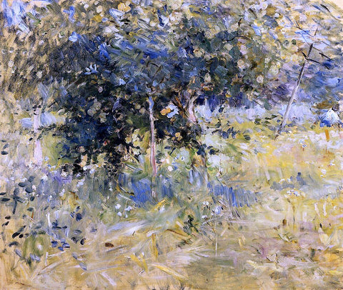 Berthe Morisot Willows in the Garden at Bougival - Hand Painted Oil Painting