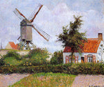 Camille Pissarro A Windmill at Knocke, Belgium - Hand Painted Oil Painting