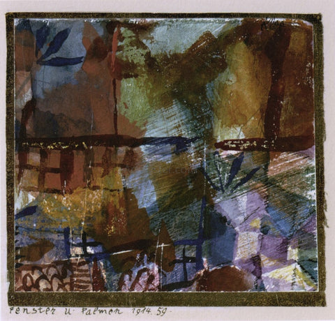Paul Klee Windows and Palm Trees - Hand Painted Oil Painting