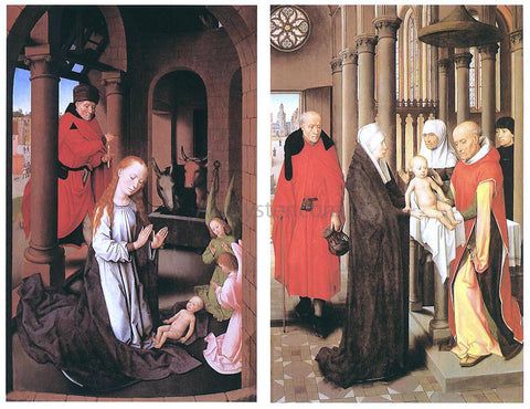 Hans Memling Wings of a Triptych - Hand Painted Oil Painting