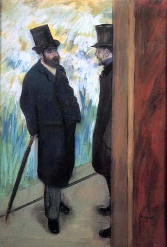 Edgar Degas Wings of Desire (also known as Ludovic Halevy and Albert Cave) - Hand Painted Oil Painting