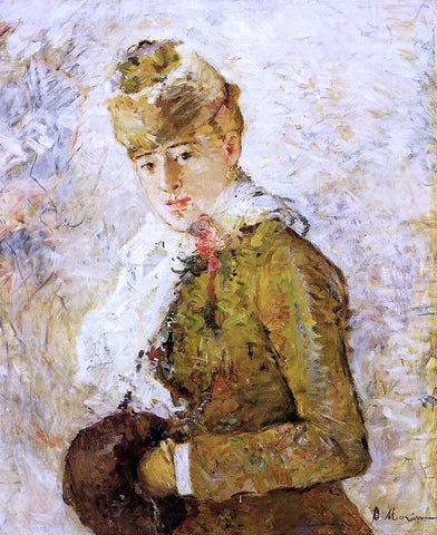 Berthe Morisot Winter (also known as Woman with a Muff) - Hand Painted Oil Painting