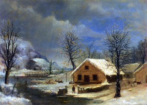 Robert Scott Duncanson Winter - Hand Painted Oil Painting