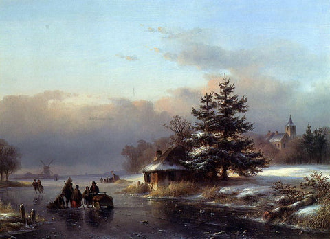 Lodewijk Johannes Kleijn Winter - Hand Painted Oil Painting