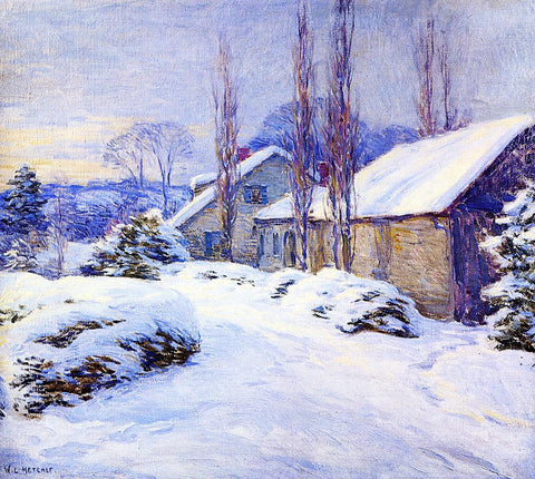 Willard Leroy Metcalf A Winter Afternoon - Hand Painted Oil Painting