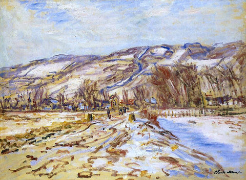 Claude Oscar Monet Winter at Giverny - Hand Painted Oil Painting