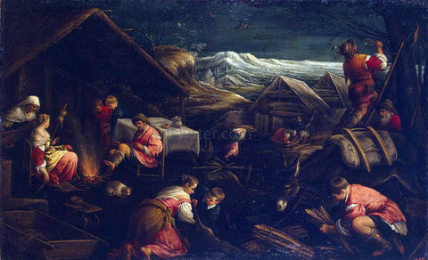 Francesco Bassano Winter - Hand Painted Oil Painting