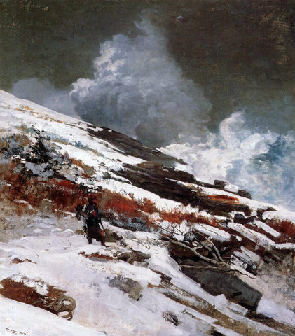 Winslow Homer Winter Coast - Hand Painted Oil Painting