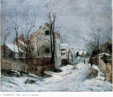 Ion Andreescu Winter in Barbizon (also known as Larna la Barbizon) - Hand Painted Oil Painting