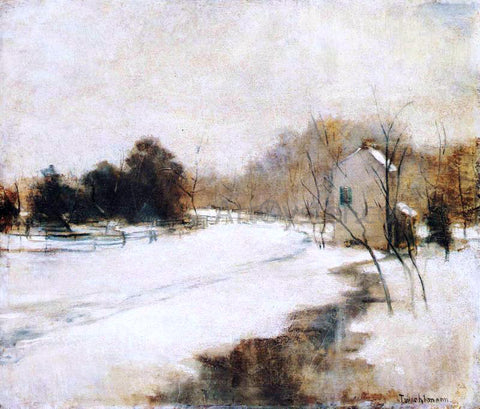John Twachtman Winter in Cincinnati - Hand Painted Oil Painting