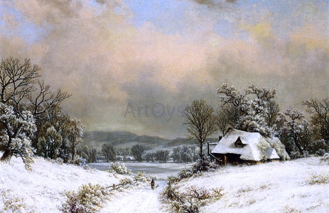 William Mason Brown Winter in the Country - Hand Painted Oil Painting