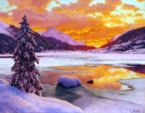 Ivan Fedorovich Choultse Winter in the Engadines - Hand Painted Oil Painting
