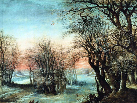 Denis Van Alsloot Winter Landscape - Hand Painted Oil Painting
