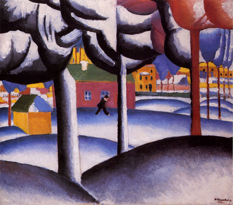 Kazimir Malevich Winter Landscape - Hand Painted Oil Painting