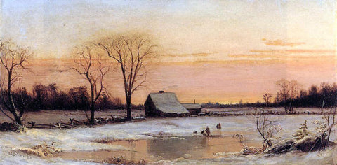 Alfred Thompson Bricher Winter Landscape - Hand Painted Oil Painting